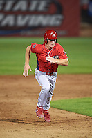 Williamsport Crosscutters pinch runner Luke Maglich (5) running the bases during a game against the Auburn Doubledays on June 25, 2016 at Falcon Park in Auburn, New York.  Auburn defeated Williamsport 5-4.  (Mike Janes/Four Seam Images)