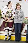 Katelyn Kurth (BC - 14), Michele Kurth - The Boston College Eagles and the visiting University of New Hampshire Wildcats played to a scoreless tie in BC's senior game on Saturday, February 19, 2011, at Conte Forum in Chestnut Hill, Massachusetts.