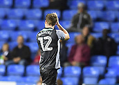 30th September 2017, Madejski Stadium, Reading, England; EFL Championship football, Reading versus Norwich City; Marley Watkins of Norwich City apploauds the Norwich City fans while leaving the field, sent off