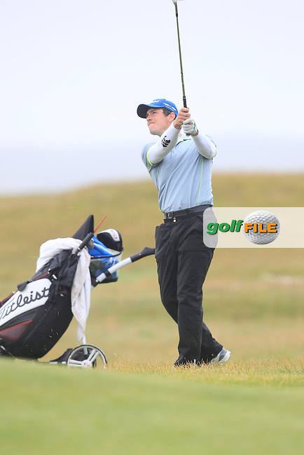 Colin Fairweather (Knock) on the 4th fairway during Matchplay Semi Final of the South of Ireland Amateur Open Championship at LaHinch Golf Club on Sunday 26th July 2015.<br /> Picture:  Golffile | TJ Caffrey