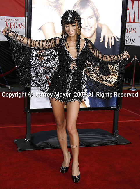 "Actress Bai Ling arrives at the Premiere Of Fox's ""What Happens In Vegas"" on May 1, 2008 at the Mann Village Theatre in Los Angeles, California."