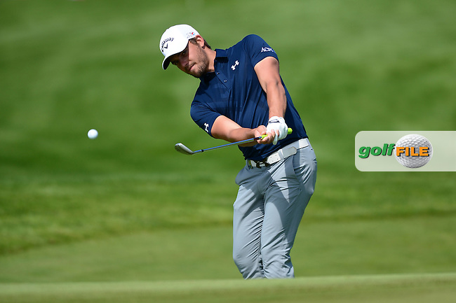 Haydn Porteous of South Africa chips during Round 1 of the Nordea Masters, Bro Hof Slott Golf Club, Stockholm, Sweden. 02/06/2016<br /> Picture: Richard Martin-Roberts / Golffile<br /> <br /> All photos usage must carry mandatory copyright credit (&copy; Golffile | Richard Martin- Roberts)
