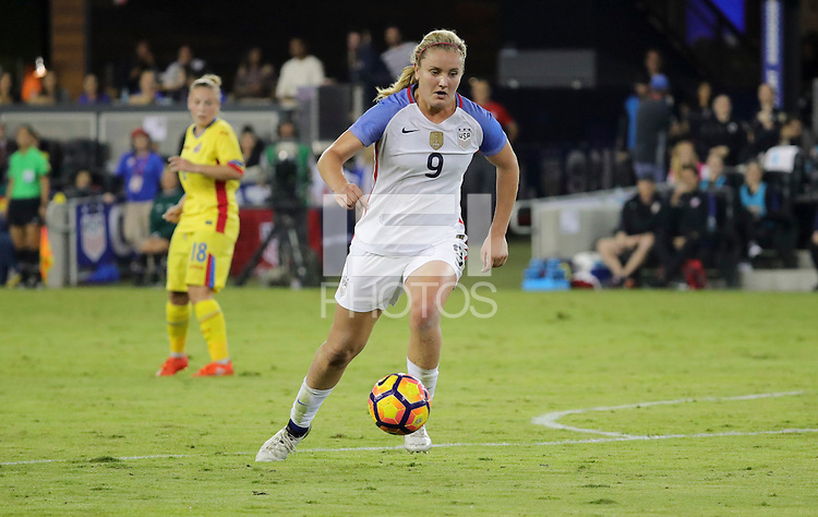 San Jose, CA - November 10, 2016: The U.S. Women's National team go on to defeat  Romania 7-1 during an international friendly game at Avaya Stadium.