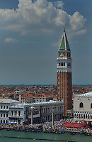 Michael McCollum.6/12/11.Elevated view of Venice from Venezia Canale della Giudecca Venice, Italy.
