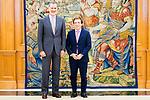 King Felipe VI of Spain (l) attends an audience with Mayor of Madrid Jose Luis Martinez Almeida. July 24, 2019. (ALTERPHOTOS/Francis Gonzalez)