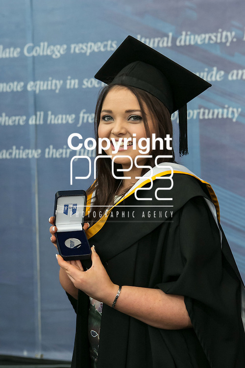 Pictured at the recent Mary Immaculate College (MIC) graduation was Aoife O&rsquo;Malley (BA graduate) from Kilrush, County Clare who was awarded the College Silver Medal for coming first place in Mathematics. 625 students from 20 counties and 3 continents were conferred with academic awards across the College&rsquo;s 27 programmes in addition to the College&rsquo;s 100th PhD award..<br /> Picture Credit Brian Gavin Press 22