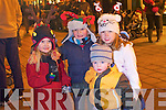 Pictured at the Santa parade in Killarney on Friday from left Kay Smith, Aaron O'Doherty, Brian Kelly and Lucy Brosnan