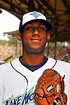 24 June 2008: Vermont Lake Monsters pitcher Johan Figuereo. Baseball Card Image for 2008. For in-house use by the Vermont Lake Monsters Only. Editorial or other use of images by other publications or media outlets must secure licensing from the photographer Ed Wolfstein prior to publication, and is based on standards of circulation, and placement in a given publication...Mandatory Credit: Ed Wolfstein.