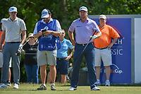 Graeme McDowell (NIR) looks over his tee shot on 18 during Round 2 of the Zurich Classic of New Orl, TPC Louisiana, Avondale, Louisiana, USA. 4/27/2018.<br /> Picture: Golffile | Ken Murray<br /> <br /> <br /> All photo usage must carry mandatory copyright credit (&copy; Golffile | Ken Murray)