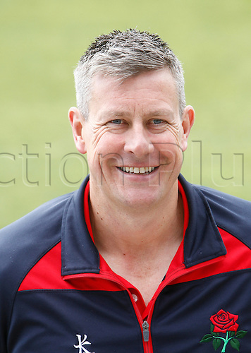 08.04.2016. Old Trafford, Manchester, England. Lancashire County Cricket Press Call. Lancashire CCC Head Coach and Cricket Director, Ashley Giles.