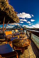 Sunset Bar, Four Seasons Resort Bora Bora, Motu Tehotu, Bora Bora, Society Islands, French Polynesia.