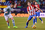 Atletico de Madrid's Filipe Luis and Celta de Vigo's Hugo Mallo during La Liga match between Atletico de Madrid and Celta de Vigol at Vicente Calderon Stadium in Madrid, Spain. December 03, 2016. (ALTERPHOTOS/BorjaB.Hojas)