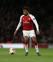 Arsenal's Alex Iwobi<br /> <br /> Photographer Rob Newell/CameraSport<br /> <br /> UEFA Europa League Quarter-Final First Leg - Arsenal v CSKA Moscow - Thursday 5th April 2018 - The Emirates - London<br />  <br /> World Copyright &copy; 2018 CameraSport. All rights reserved. 43 Linden Ave. Countesthorpe. Leicester. England. LE8 5PG - Tel: +44 (0) 116 277 4147 - admin@camerasport.com - www.camerasport.com