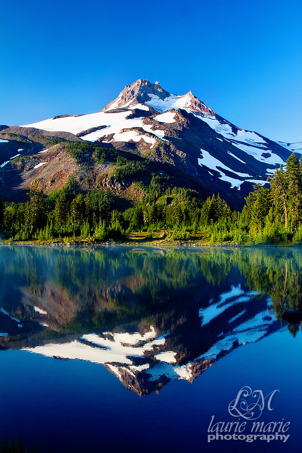 Mount Jefferson reflected in Lake Russel at Sunrise