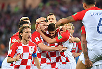 (180616) -- KALININGRAD, June 16, 2018 -- Players of Croatia celebrate after Nigeria s Oghenekaro Etebo scored an own goal during a group D match between Croatia and Nigeria at the 2018 FIFA World Cup WM Weltmeisterschaft Fussball in Kaliningrad, Russia, June 16, 2018. ) (SP)RUSSIA-KALININGRAD-2018 WORLD CUP-GROUP D-CROATIA VS NIGERIA LiuxDawei <br /> Kalininrad 16-06-2018 Football FIFA World Cup Russia  2018 <br /> Croatia - Nigeria / Croazia - Nigeria<br /> Foto Xinhua/Imago/Insidefoto