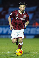 David Buchanan of Northampton Town during the Sky Bet League 2 match between Northampton Town and Morecambe at Sixfields Stadium, Northampton, England on 23 January 2016. Photo by David Horn / PRiME Media Images.
