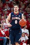 Illinois Fighting Illini guard Sam Maniscalco (0) handles the ball during a Big Ten Conference NCAA college basketball game against the Wisconsin Badgers on Sunday, March 4, 2012 in Madison, Wisconsin. The Badgers won 70-56. (Photo by David Stluka)