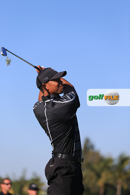 Tiger Woods (USA)on the 9th during day one at the WGC Cadillac championship at Doral Golf Resort & Spa,Doral, Florida,USA..Picture: Fran Caffrey / www.golffile.ie ..