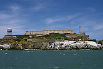 CA: Alcatraz, California, lighthouse, San Francisco Bay, 2005 .Image: caalcatraz105..Photo Copyright: Lee Foster, lee@fostertravel.com, www.fostertravel.com, (510) 549-2202.
