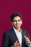 Salman Khan pictures: executive portrait photography of Salman Khan, founder of Khan Academy, by San Francisco corporate photographer Eric Millette