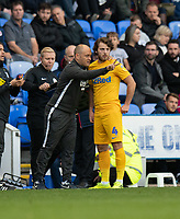 Preston North End manager Alex Neil gives instructions to Preston North End's Ben Pearson from the technical area <br /> <br /> Photographer David Horton/CameraSport<br /> <br /> The EFL Sky Bet Championship - Reading v Preston North End - Saturday 19th October 2019 - Madejski Stadium - Reading<br /> <br /> World Copyright © 2019 CameraSport. All rights reserved. 43 Linden Ave. Countesthorpe. Leicester. England. LE8 5PG - Tel: +44 (0) 116 277 4147 - admin@camerasport.com - www.camerasport.com