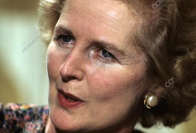 British Prime Minister Margaret Thatcher at the White House, Washington, D.C., USA, September 1977.