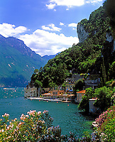 Italy, Trentino, Lake Garda, West banks near Riva del Garda