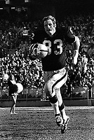 Oakland Raider Defensive End Ben Davidson introduced to the crowd at the Oakland-Alameda County Coliseum. (1970 photo/Ron Riesterer)