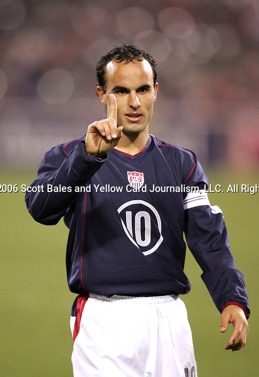 10 February 2006: U.S. captain Landon Donovan. The United States Men's National Team led Japan 3-0 early in the second half at the Pac Bell Park in San Francisco, California in an International Friendly soccer match.