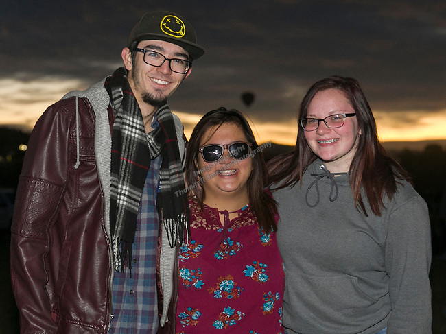 Spencer, Mia and Tiffany during dawn patrol at the Great Reno Balloon Races held on Saturday, Sept. 8, 2018.
