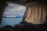 NEW ZEALAND, Aoraki Mount Cook National Park, Waking up next to Lake Pukaki, Ben M Thomas