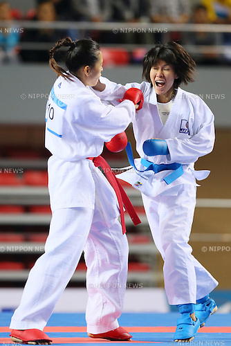 Mamiko Gomyo (JPN), OCTOBER 13, 2013 - karate : Tianjin 2013 the 6th East Asian Games, Women's -61kg at Donjuzi Gymnasium, Tianjin, China. (Photo by AFLO SPORT)
