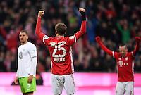 Fussball  1. Bundesliga  Saison 2016/2017  14. Spieltag  FC Bayern Muenchen - VfL Wolfsburg    10.12.2016 JUBEL Thomas Mueller (FC Bayern Muenchen)