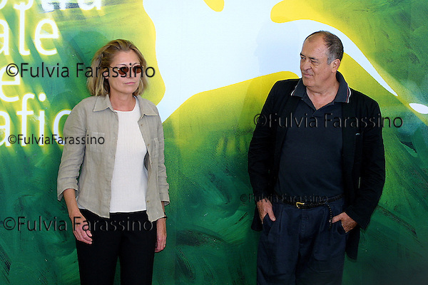 2001,  58esima Mostra Internazionale  d'Arte Cinematografica di Venezia, 58th Venice International Film Festival,  Bernardo Bertolucci with his wife Claire People, Bernardo Bertolucci con sua moglie Claire People