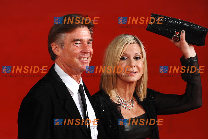 "Olivia Newton John and her husband.""A few best men"".Roma 28/10/2011 Auditorium.Festival Internazionale del Film di Roma.Foto Andrea Staccioli Insidefoto"