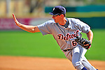 15 March 2009: Detroit Tigers' first baseman Don Kelly makes an unassisted out at first during a Spring Training game against the Washington Nationals at Space Coast Stadium in Viera, Florida. The Tigers shut out the Nationals 3-0 in the Grapefruit League matchup. Mandatory Photo Credit: Ed Wolfstein Photo