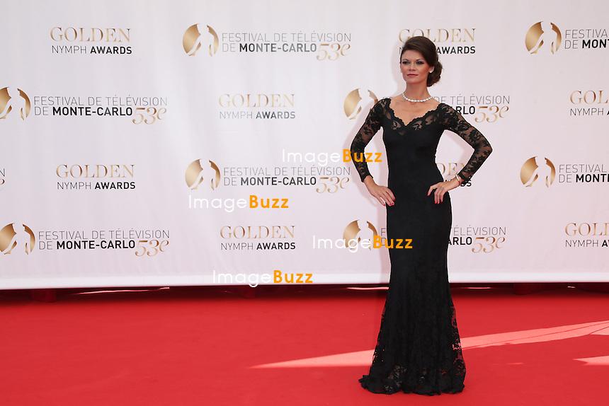 CPE/Danielle Vasinova attends the closing ceremony of the 53rd Monte Carlo TV Festival on June 13, 2013 in Monte-Carlo, Monaco