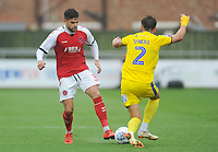 Fleetwood Town's Danny Andrew under pressure from AFC Wimbledon's Luke O'Neill<br /> <br /> Photographer Kevin Barnes/CameraSport<br /> <br /> The EFL Sky Bet Championship - Fleetwood Town v AFC Wimbledon - Saturday 10th August 2019 - Highbury Stadium - Fleetwood<br /> <br /> World Copyright © 2019 CameraSport. All rights reserved. 43 Linden Ave. Countesthorpe. Leicester. England. LE8 5PG - Tel: +44 (0) 116 277 4147 - admin@camerasport.com - www.camerasport.com