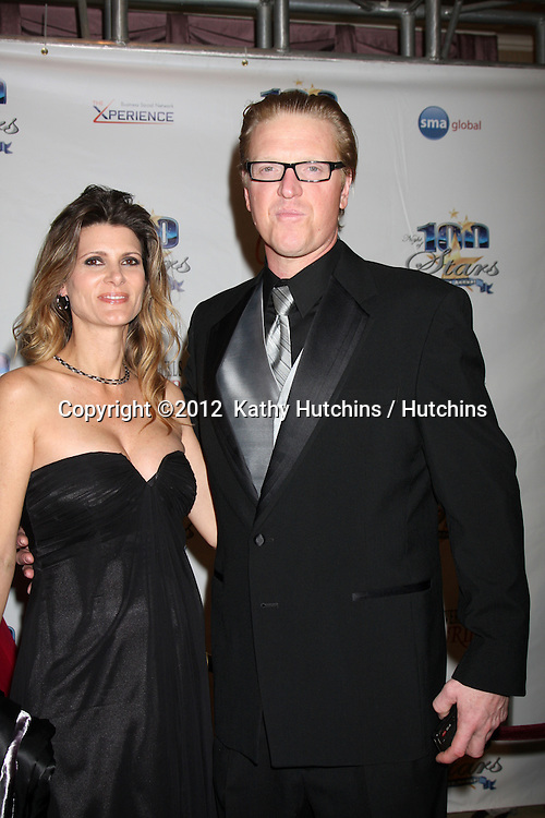 "LOS ANGELES - FEB 26:  Jake Busey arrives at the ""Night of a 100 Stars"" Oscar Viewing Party at the Beverly Hills Hotel on February 26, 2012 in Beverly Hills, CA."