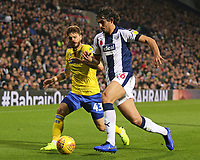 Leeds United's Mateusz Klich chases down West Bromwich Albion's Ahmed Hegazy<br /> <br /> Photographer David Shipman/CameraSport<br /> <br /> The EFL Sky Bet Championship - West Bromwich Albion v Leeds United - Saturday 10th November 2018 - The Hawthorns - West Bromwich<br /> <br /> World Copyright © 2018 CameraSport. All rights reserved. 43 Linden Ave. Countesthorpe. Leicester. England. LE8 5PG - Tel: +44 (0) 116 277 4147 - admin@camerasport.com - www.camerasport.com