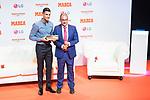 Cristiano Ronaldo (l) receives 'Marca Leyenda' award by Juan Ignacio Gallardo, Director of Newspaper Marca. July 29, 2019. (ALTERPHOTOS/Francis González)