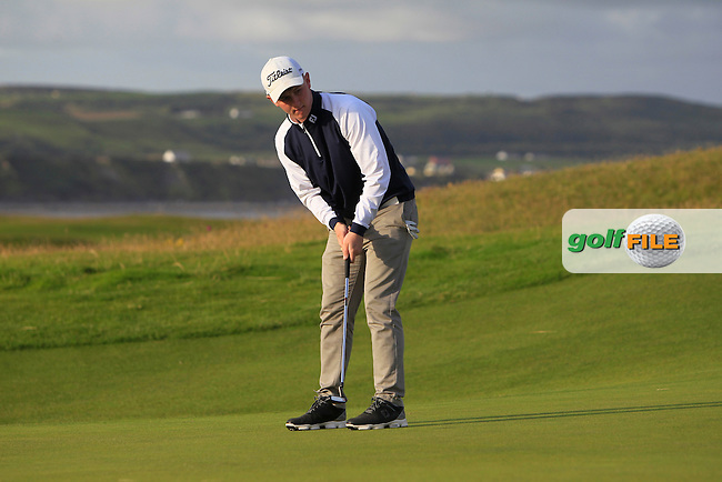 Dale Jackson (Massereene) on the 1st during Round 2 of the South of Ireland Amateur Open Championship at LaHinch Golf Club on Thursday 23rd July 2015.<br /> Picture:  Golffile | Thos Caffrey
