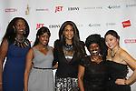 Siamanda Chege, Kimmie Smith, Beverly Johnson, Alexandreena Dixon and   at Color of Beauty Awards honoring supermodel Beverly Johnson on February 4, 2014 at Holy Apostles, New York City, New York. (Photo by Sue Coflin/Max Photos)