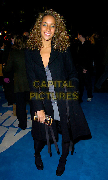"LEONA LEWIS - THE X FACTOR.The premiere of ""Flushed Away"" at the Empire, Leicester Square, London, UK..November 23rd, 2006.full length black coat.CAP/CAN.©Can Nguyen/Capital Pictures"