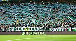 Stockholm 2014-04-14 Fotboll Superettan Hammarby IF - Degerfors IF :  <br /> Hammarbys supportrar med halsdukar och ett halsdukshav p&aring; l&auml;ktaren<br /> (Foto: Kenta J&ouml;nsson) Nyckelord:  HIF Bajen Degerfors  supporter fans publik supporters