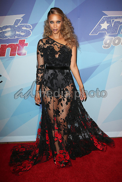 """29 August 2017 - Hollywood, California - Tyra Banks. NBC """"America's Got Talent"""" Season 12 Live Show held at the Dolby Theatre. Photo Credit: F. Sadou/AdMedia"""