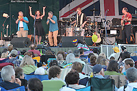 Washboard Slim and the Bluelights, performing at the Hamden Free Summer Concert Series 10 July 2009. Opening Act for Herman's Hermits