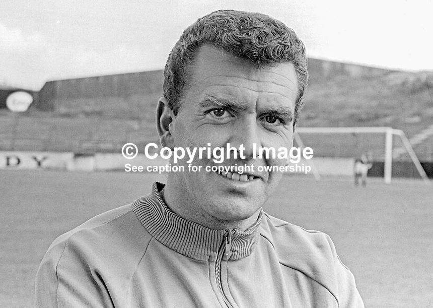 John Colrain, player/coach, Glentoran FC, Belfast, N Ireland, UK. Coleraine was previously with Glasgow Celtic and Ipswich Town. August 1966. 196608000010a<br /> <br /> Copyright Image from Victor Patterson, 54 Dorchester Park, Belfast, UK, BT9 6RJ<br /> <br /> Tel: +44 28 9066 1296<br /> Mob: +44 7802 353836<br /> Voicemail +44 20 8816 7153<br /> Email: victorpatterson@me.com<br /> Email: victorpatterson@gmail.com<br /> <br /> IMPORTANT: My Terms and Conditions of Business are at www.victorpatterson.com