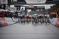 Junior Men's start<br /> <br /> UCI 2016 cyclocross World Championships