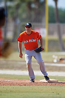 Miami Marlins Eric Jagielo (57) during a Minor League Spring Training game against the St. Louis Cardinals on March 26, 2018 at the Roger Dean Stadium Complex in Jupiter, Florida.  (Mike Janes/Four Seam Images)